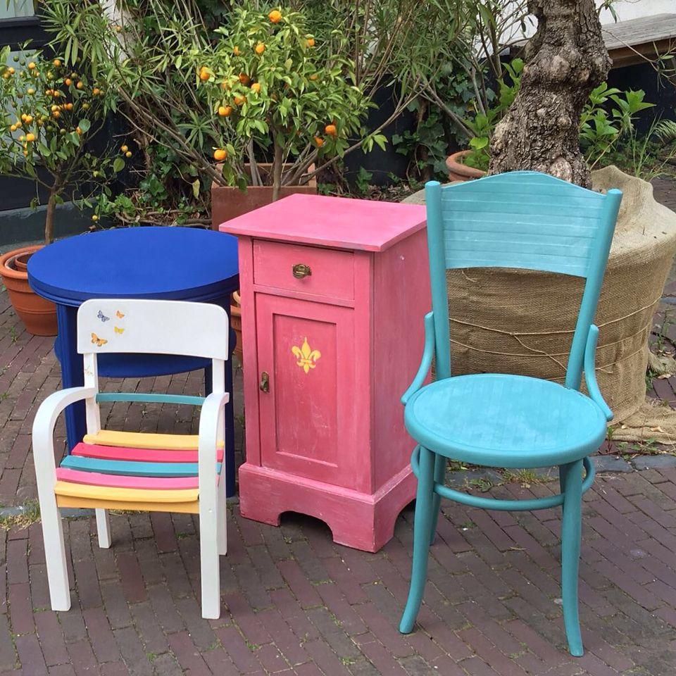 wohnaccessoires atelierwerk workshop mit kreidefarbe m bel selber gestalten bazaar style. Black Bedroom Furniture Sets. Home Design Ideas