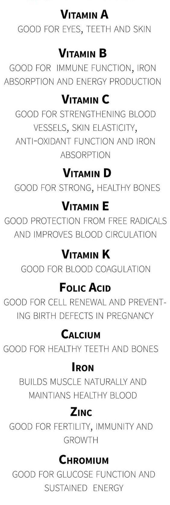 An A to Z of the Vitamins you can take and their benefits ...