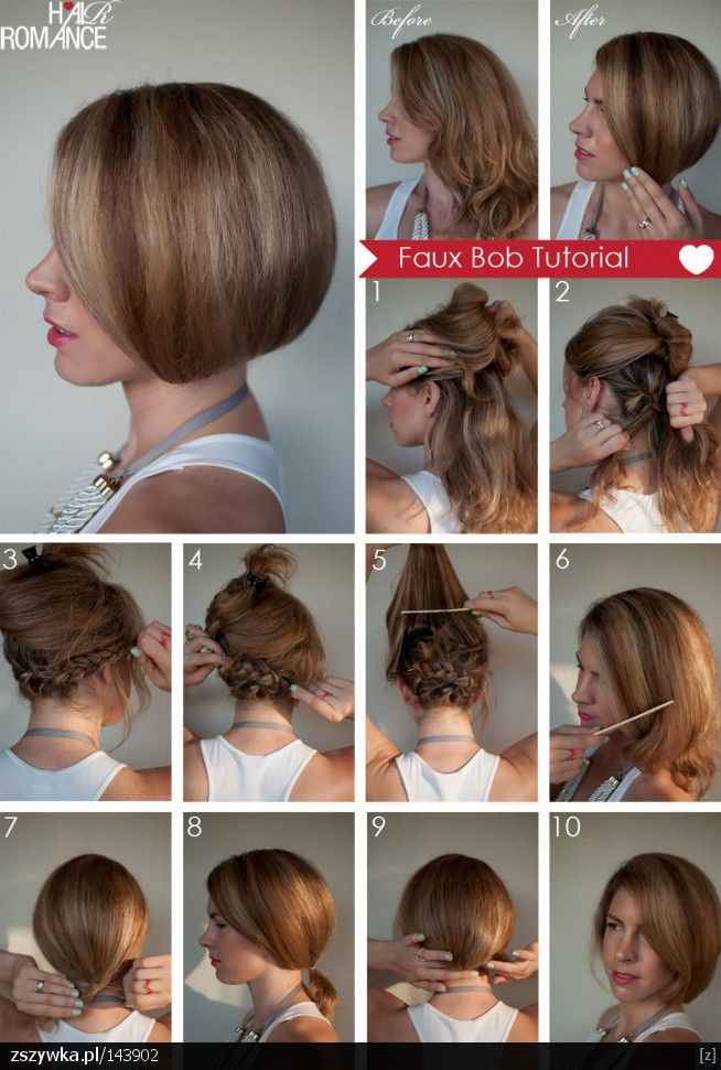 Top 10 Greatest Tutorials For Short Hair Top Inspired Hair Romance Short Hair Tutorial Long Hair Styles