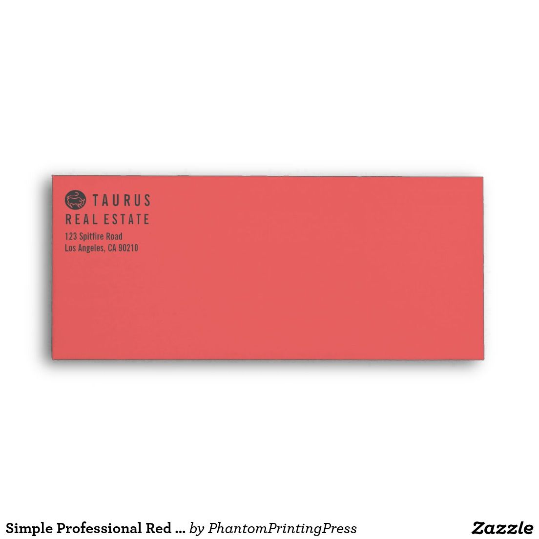 Simple Professional Red Letterhead Envelope | Envelopes and Printing ...