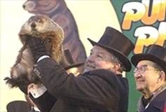 Punxsutawney Phil- On Feb. 2, use the link on this website to see the official Groundhog Day video :)
