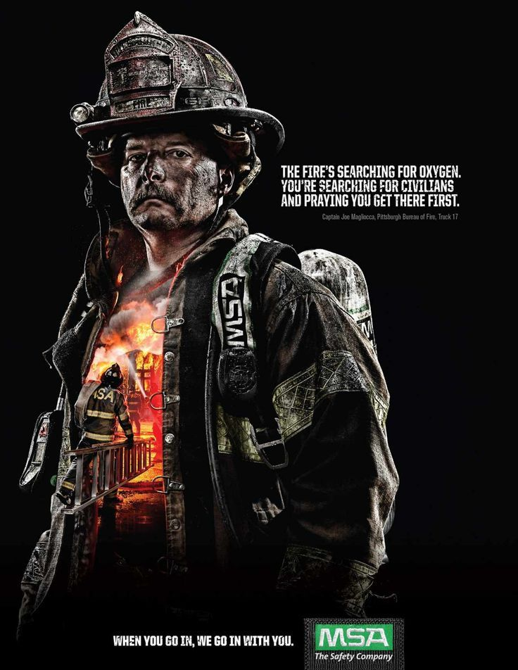 Advertising campaign mine safety appliances the fire