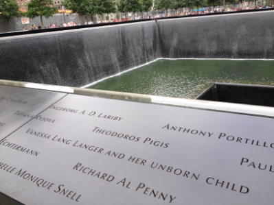 Image result for ground zero memorial woman unborn child