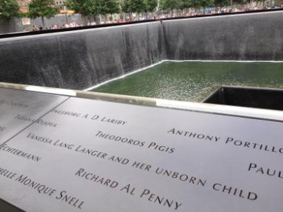 Image result for ground zero memorial woman unborn child
