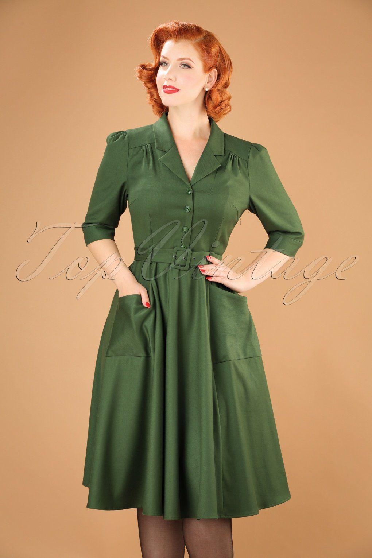 622ccbd8b6f 40s Alexandria Swing Dress in Green | Clothes I like | Dresses ...