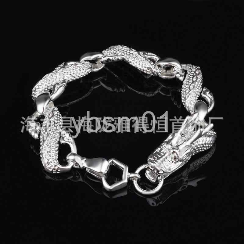 Fashion 925Sterling Solid Silver Jewelry Dragon Bracelet For Women H130