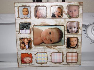 12 Months Baby Picture Frame Baby Stuff Pinterest Baby