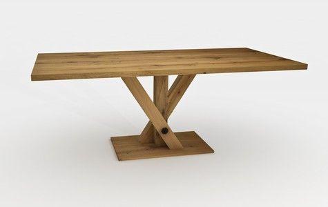 Montagebeispiel Tisch, Tischgestell, Eiche