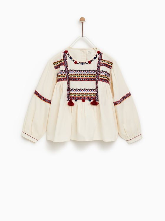 c5396da1573 BLUSA BORDADOS | w18-19 tops | Embroidered blouse, Blouse και Tops
