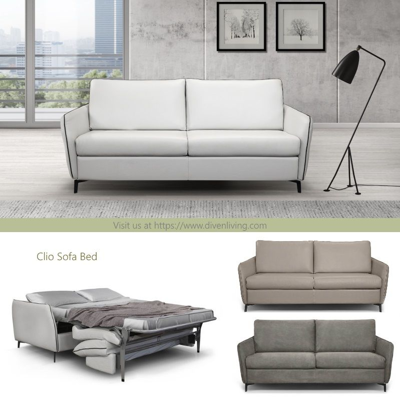 Our Best Selling Contemporary 3 Seater Sofabed Model Clio Available In Micro Fabric Or Top Grain Ital Italian Sofa Contemporary Sofa Furniture Design Modern