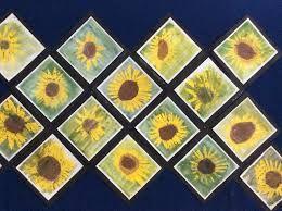 Kuvahaun tulos haulle auringonkukka askartelu