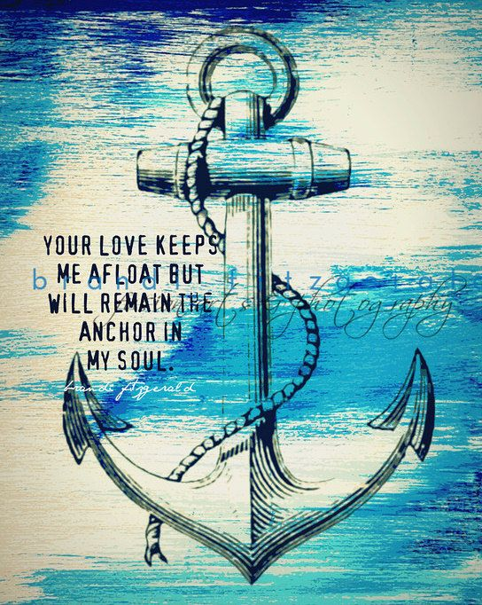 Anchor In My Soul One 8 X 10 Fusion Paintographic Fine Art Print