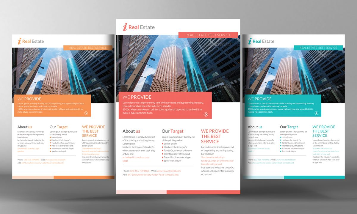 Premium Real Estate Flyer Template By Business Templates On Creative