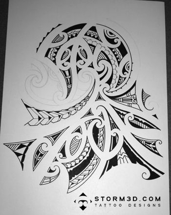 Wave Designs For T Shirts The Final Traced Drawing Before The