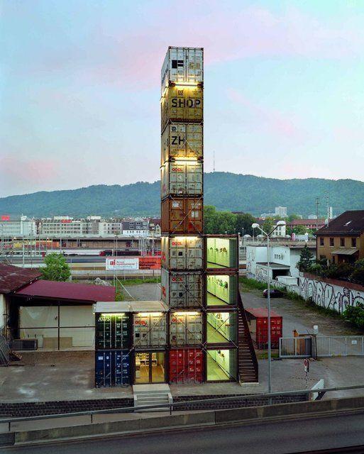 Freitag store zurich cool pinterest container for Modernes haus zurich