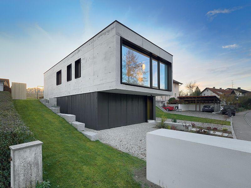 Schwierige hausgrundst cke container energieeffizient for Beton haus bauen
