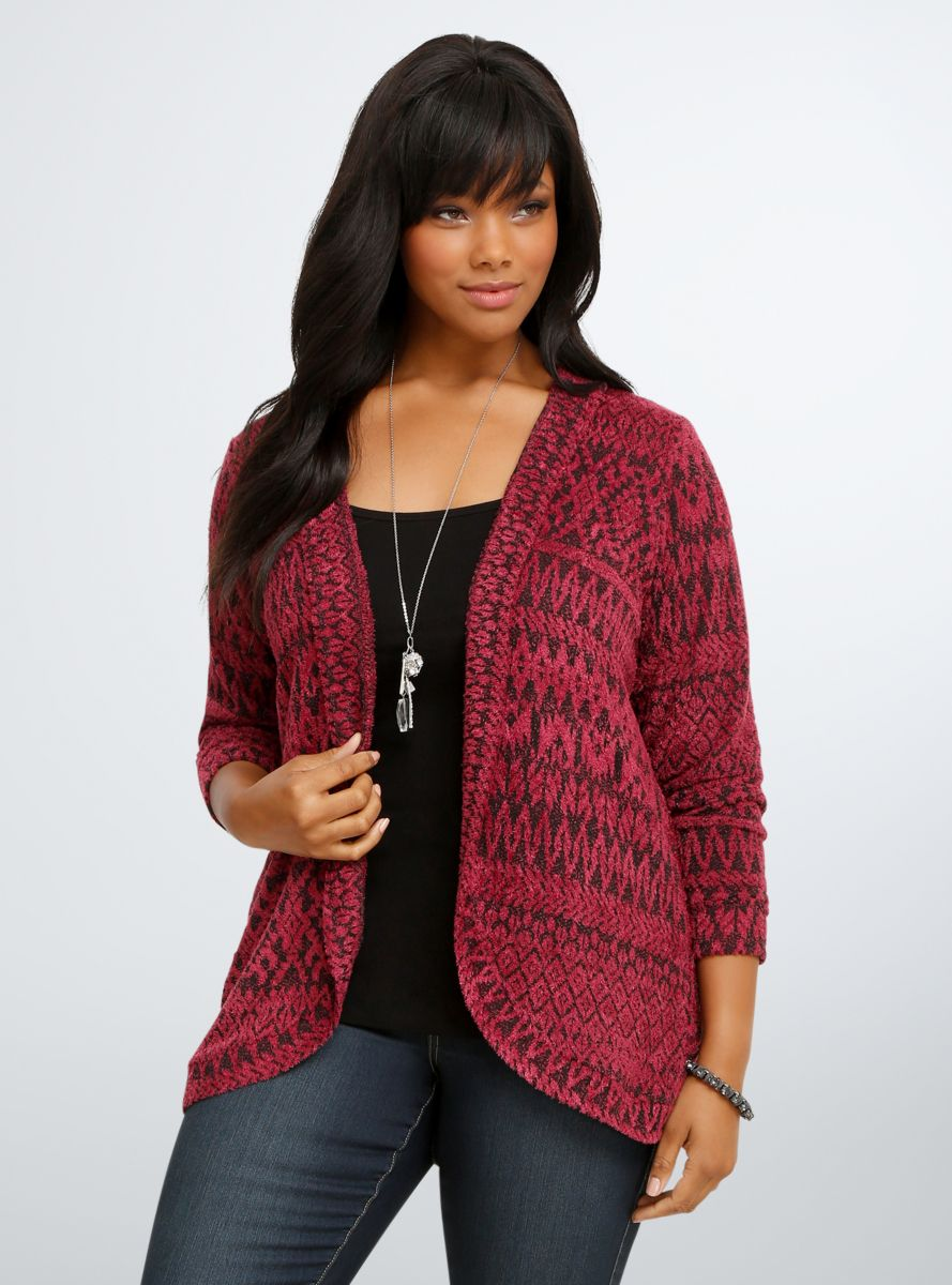 Allover Print Hooded Cardigan | Hooded cardigan, Printing and Full ...