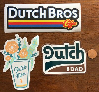 Details about DUTCH Bros STICKER Decal COFFEE Logo LOT Mom DAD Car HYDRO Flask BOTTLE VSCO #dutchbros