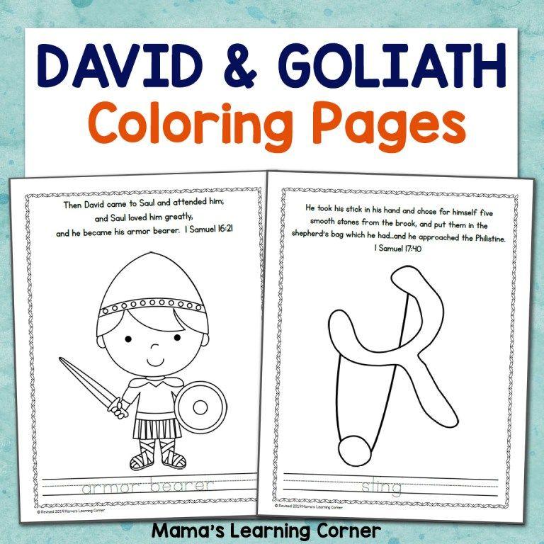 Pin On Sunday School David and goliath worksheets kindergarten