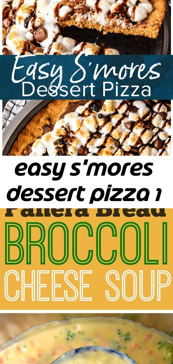 Easy smores dessert pizza 1 Smores Dessert Pizza is a sweet chocolaty dessert made just like a pizza Its got the classic smores flavor of melted chocolate graham crackers...