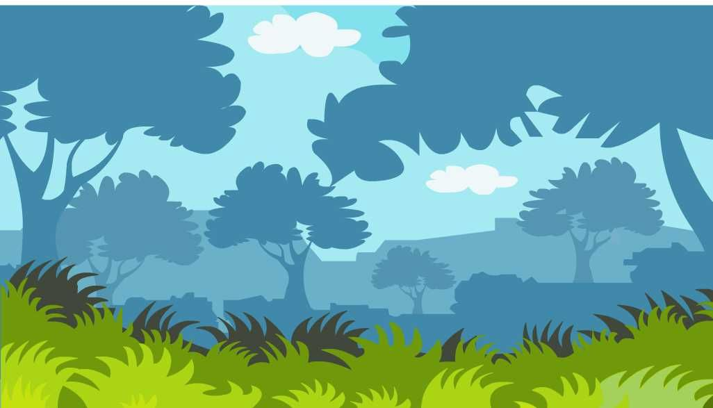 How To Draw Forest Scenery with Animals - Forest Scenery ...