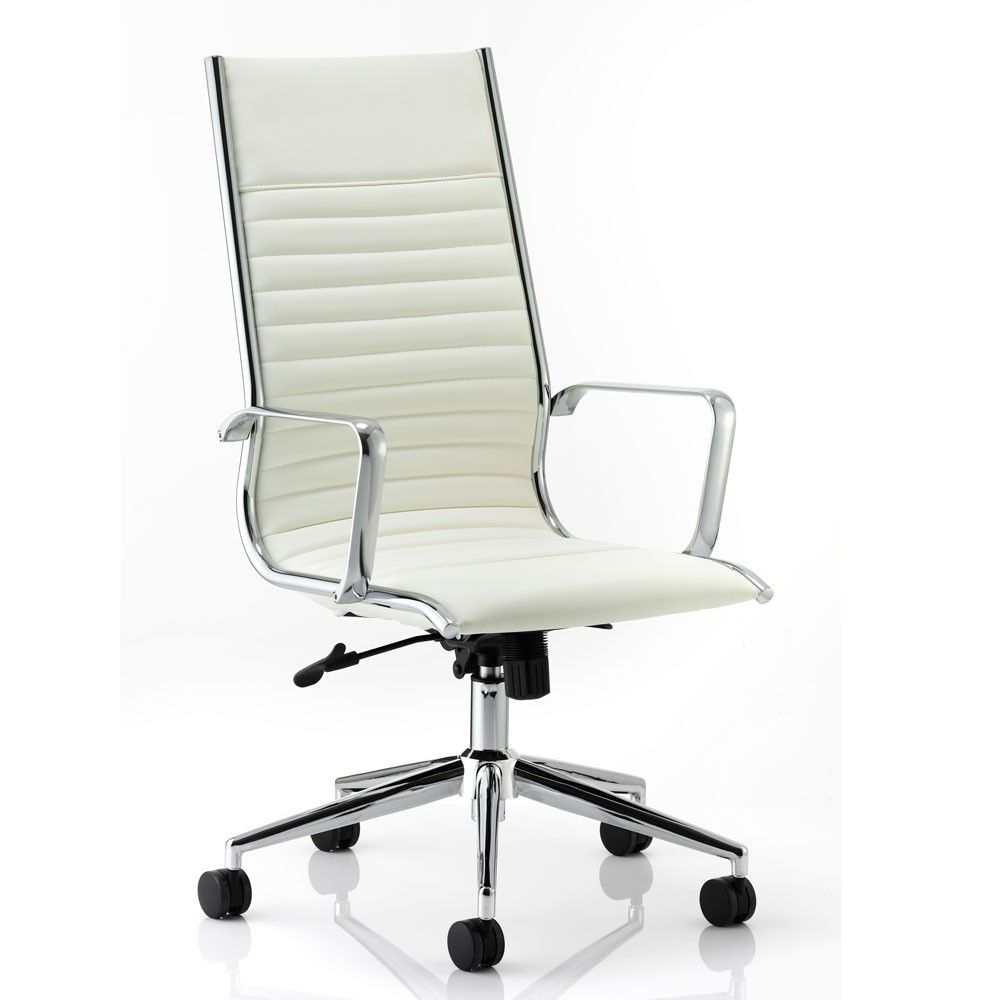 High Back Executive Chair Ivory White Chairs Onlineexecutive Chairleather Office