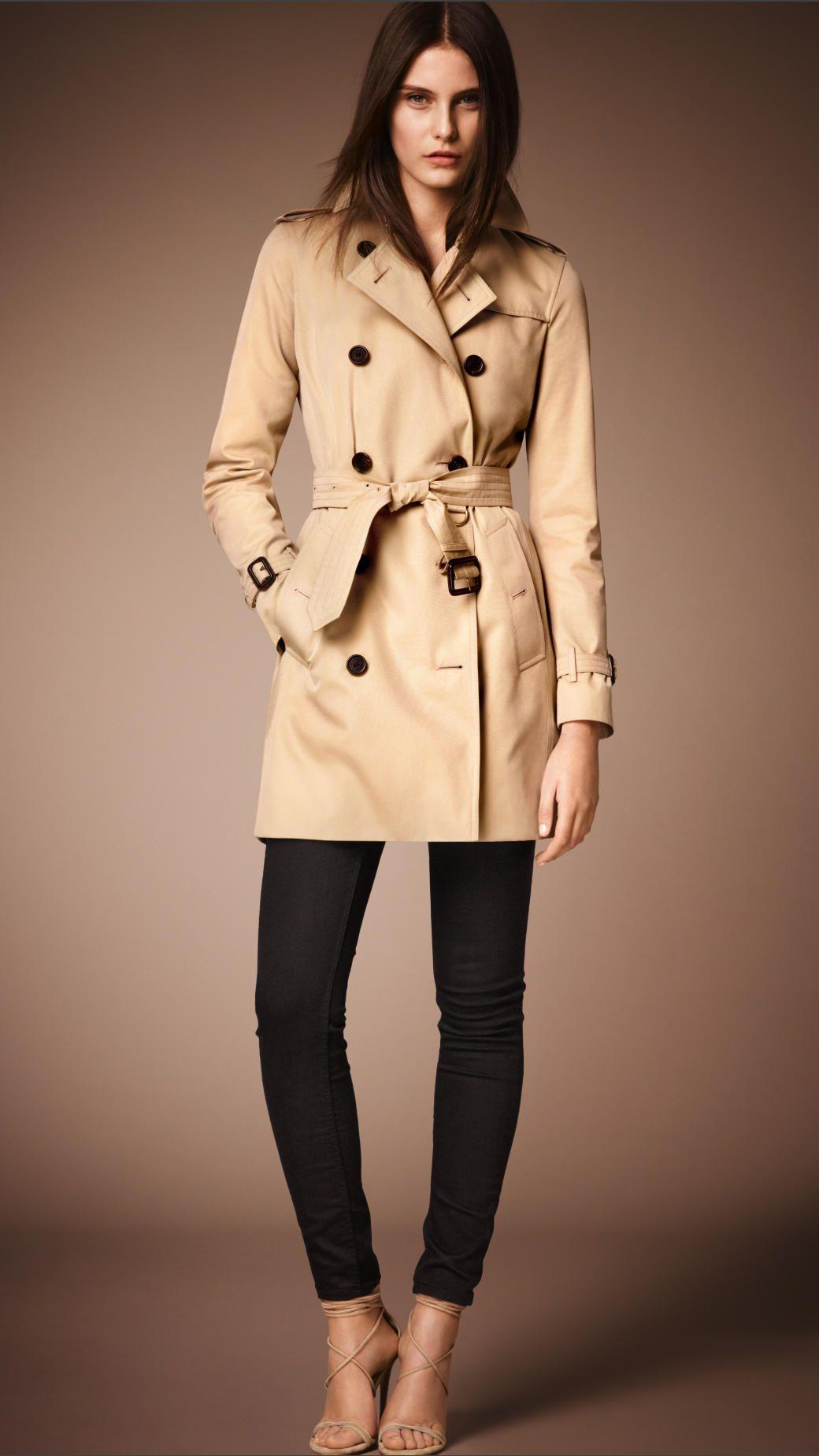 6348475aa36586 The Kensington – Mid-length Trench Coat in Honey - Women