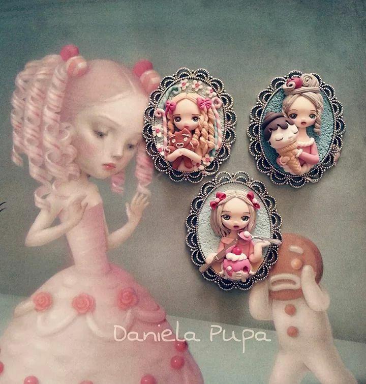 Daniela Pupa Munecos De Porcelana Fria Hadas En Porcelana Fria Porcelana Fria Llaveros