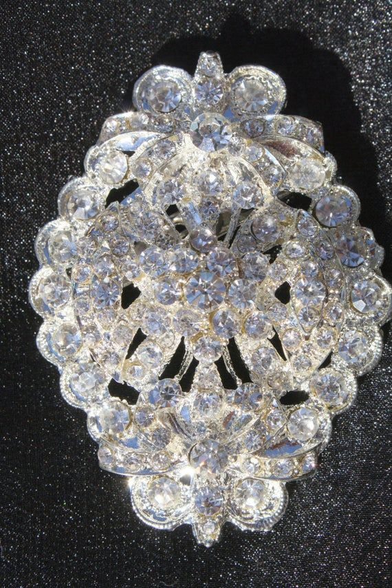 Sale Rhinestone Brooch Crystal Brooch Vintage Style