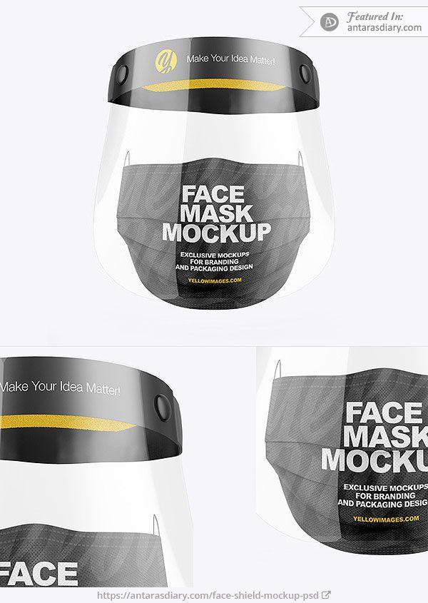 Face Shield Mockup Psd Mockup Psd Mockup Face Shield
