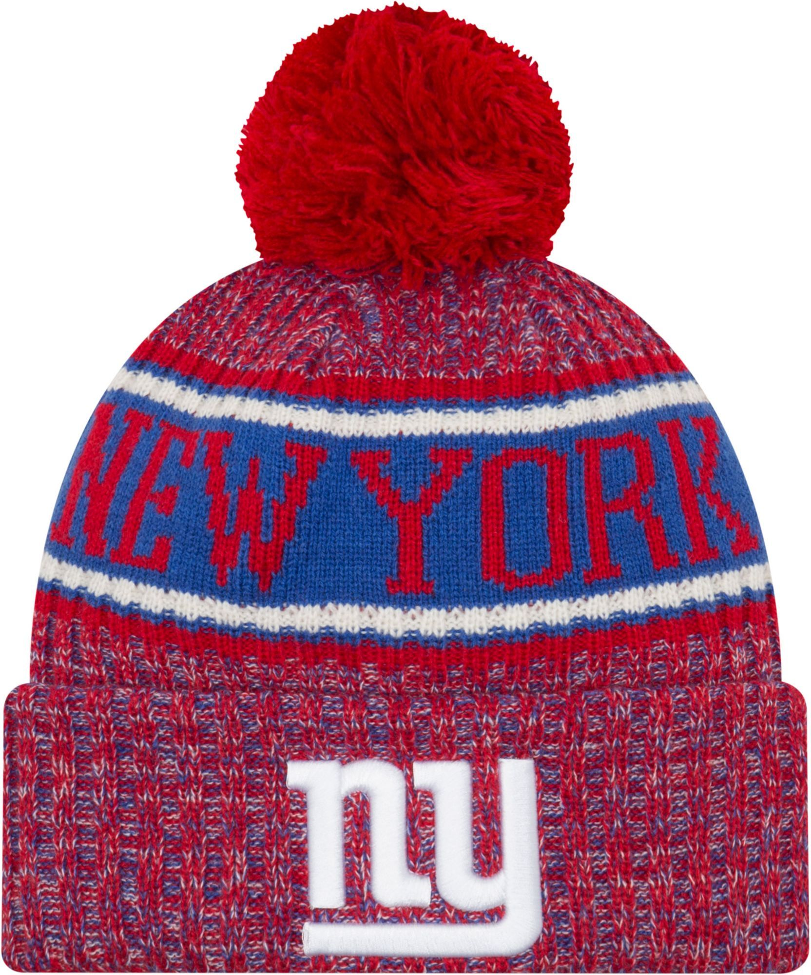 buy popular 7d985 90dcd New Era Men s New York Sideline Cold Weather Reverse Red Sport Knit