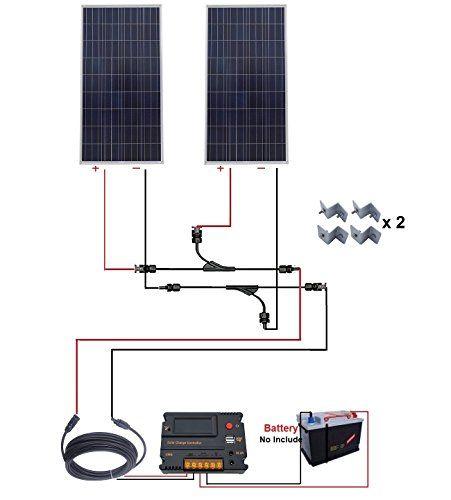 Eco Worthy 300w Polycrystalline Solar Starter Kit 2pcs 1 In 2020 Solar Panels Solar Solar Wall Lights
