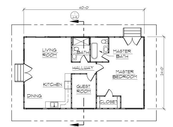2 Bed 2 Bath Floor Plan 24 X 40 Yahoo Search Results Barndominium Floor Plans House Plan With Loft Loft Floor Plans