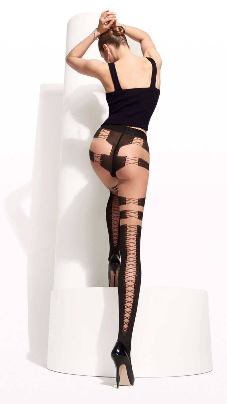 Trasparenze Calze Collants Black dot tights