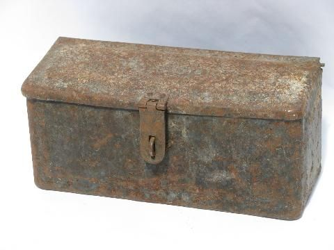 Antique Fordson Tractor Or Early Auto Tool Box Boxes Tool Box