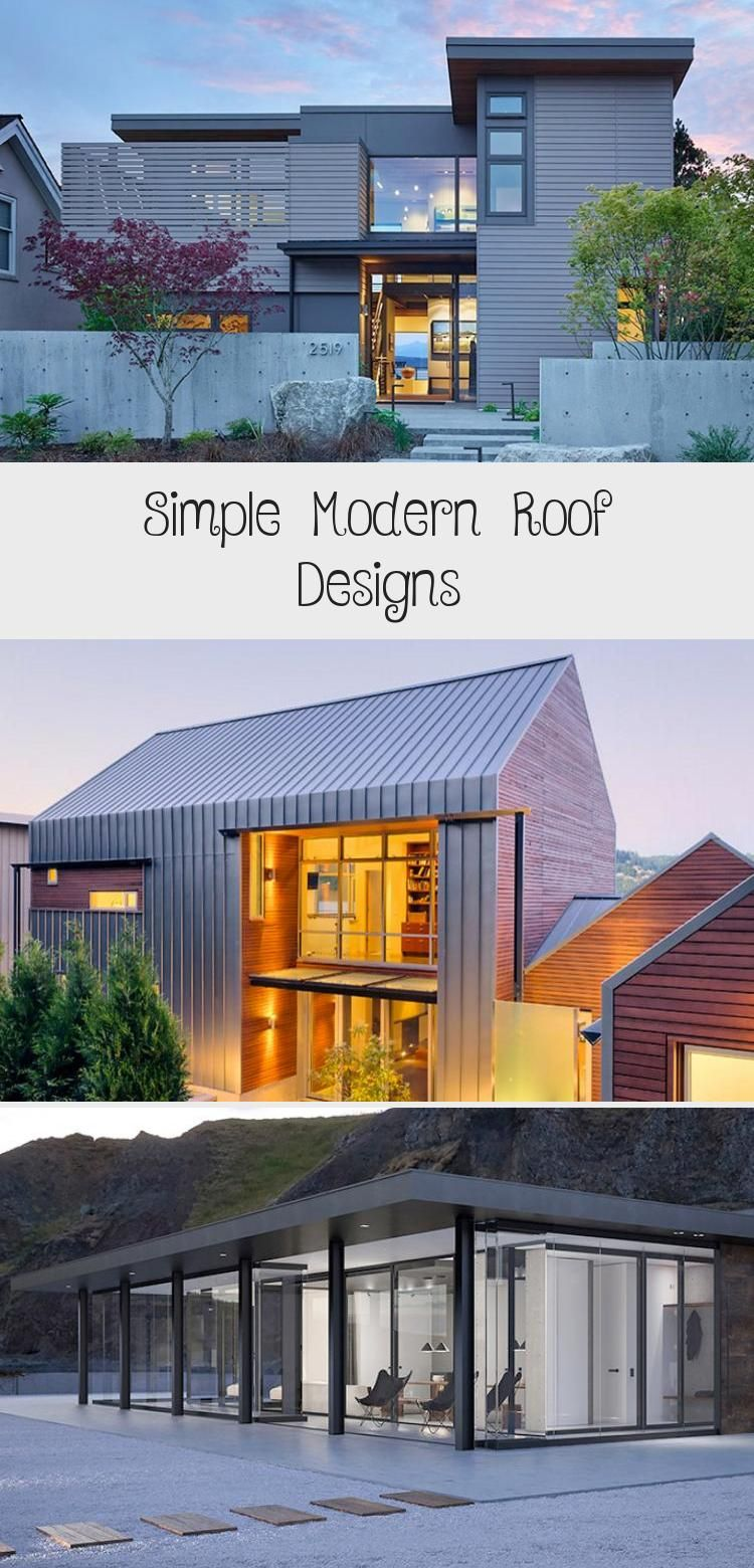 Simple Shed Roof House With Garage Designs Simple Modern Roof Designs Modernarchitectureinterior In 2020 Modern Roof Design Roof Design Modern Architecture Interior