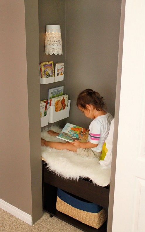 Kids Reading Nook Added To A Closet Hometalk Funky Junk Present Bloggers Diy Anything