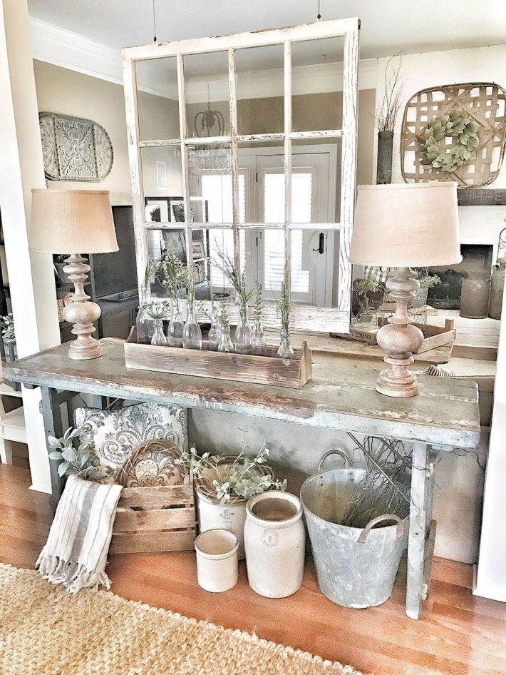 Amazing Antique Farmhouse Decoration Ideas For Your Home Decor 25 Rustic Farmhouse Living Room Farm House Living Room Farmhouse Decor Living Room