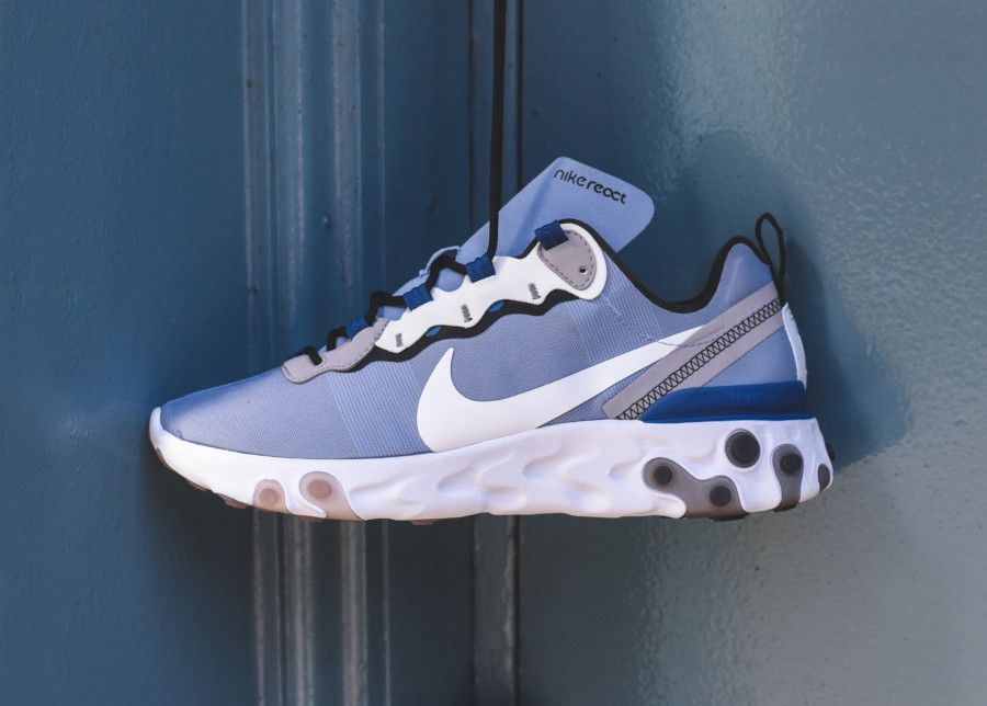 Nike React Element 55 Indigo Fog | Bleu clair, Bleu pastel ...