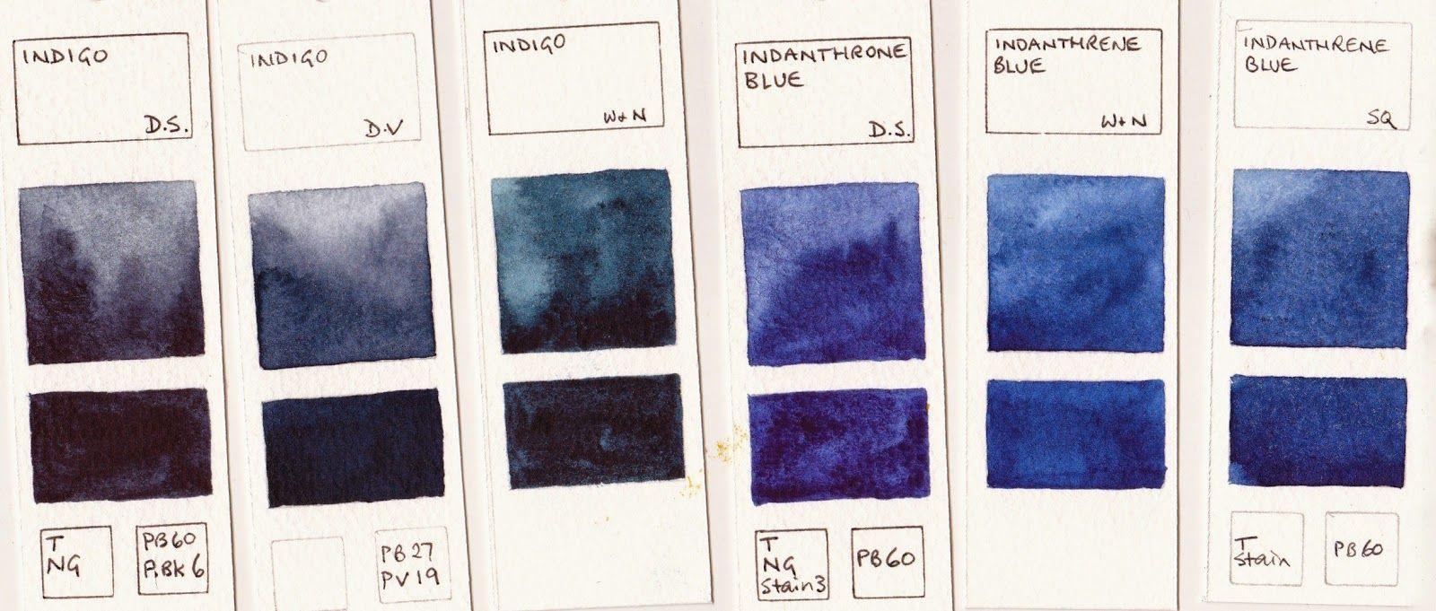 Watercolour Comparisons 8 Blues Basic Art Techniques Blue