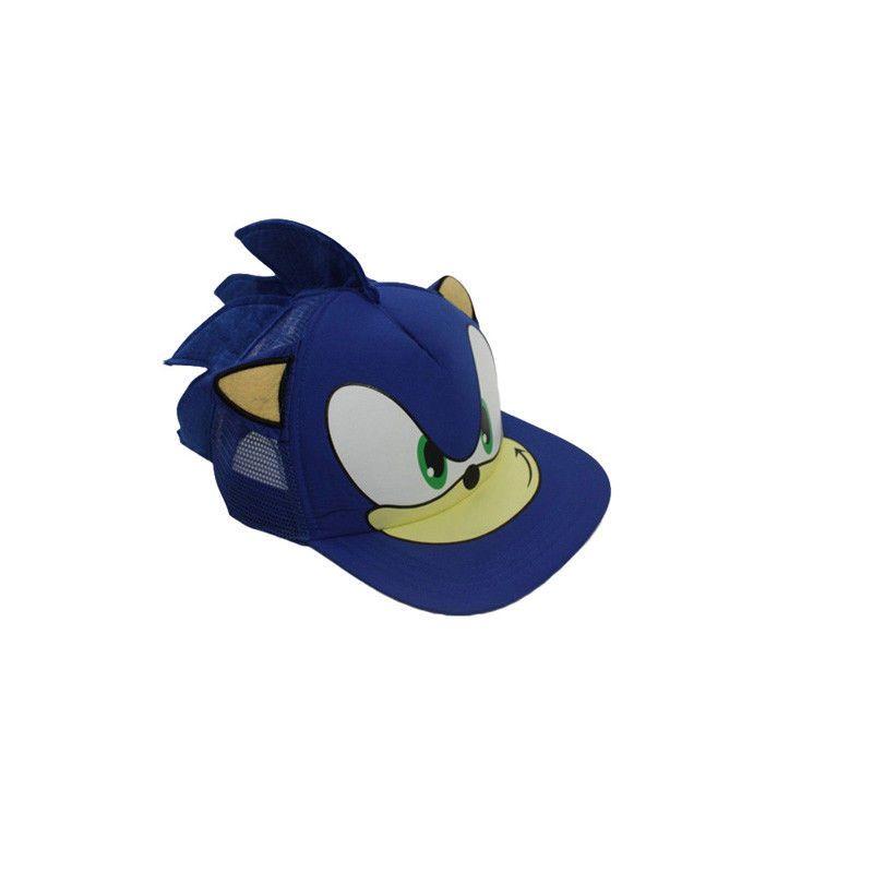 eaed26c17 Cute Boy Sonic The Hedgehog Cartoon Youth Adjustable Baseball Hat ...