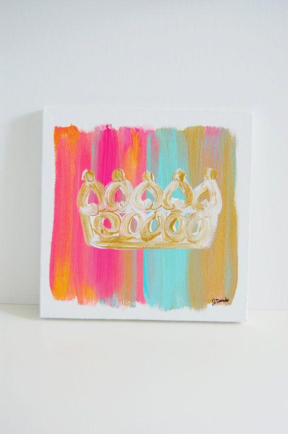 10x10 Golden Crown Canvas Diy Canvas Art Diy Diy Art