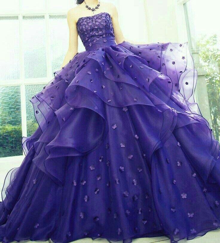 ช ดแต งงาน ม วง gowns ball dresses dresses