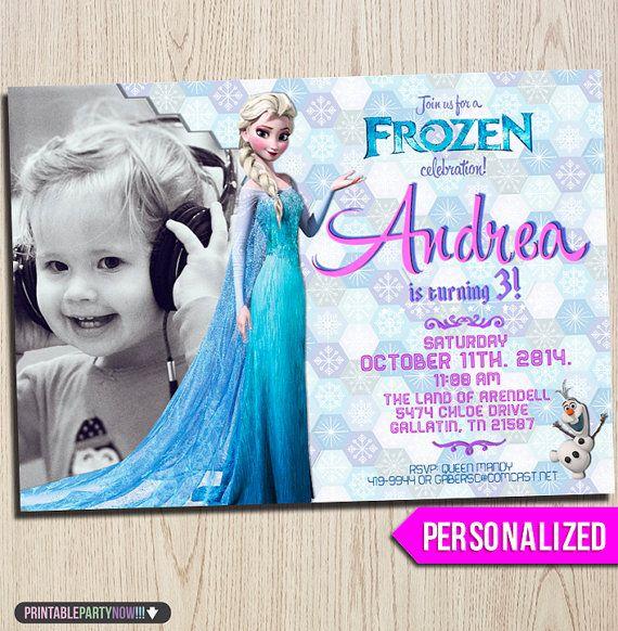 Printable Frozen Invitation  Frozen Birthday by printablepartynow