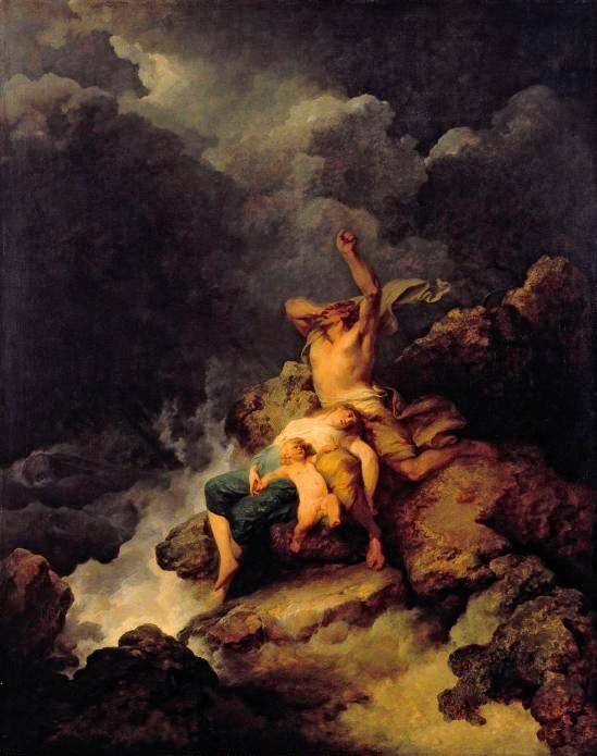 Loutherbourg, Philip James de (b,1740)- Flood, c 1780