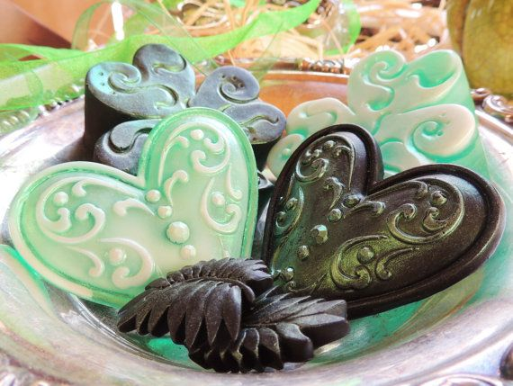 IRISH SOAP St. Patrick's Day Shamrock O'Shawn by thecharmingfrog