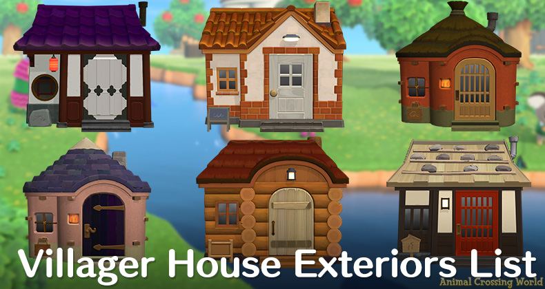 Every Villager Has A Unique And Different House Exterior Design In Animal Crossing New Horizon In 2020 Animal Crossing Animal Crossing Villagers Animal Crossing Guide