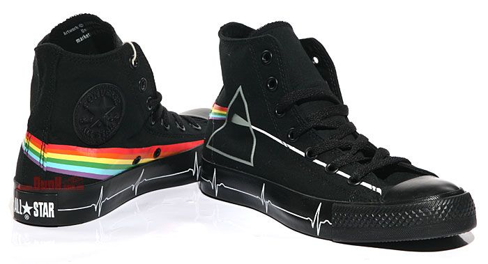 e8b55850d1fe 1793620093423152119229199l Pink Floyds Dark Side of the Moon Converse  All-Star high tops.