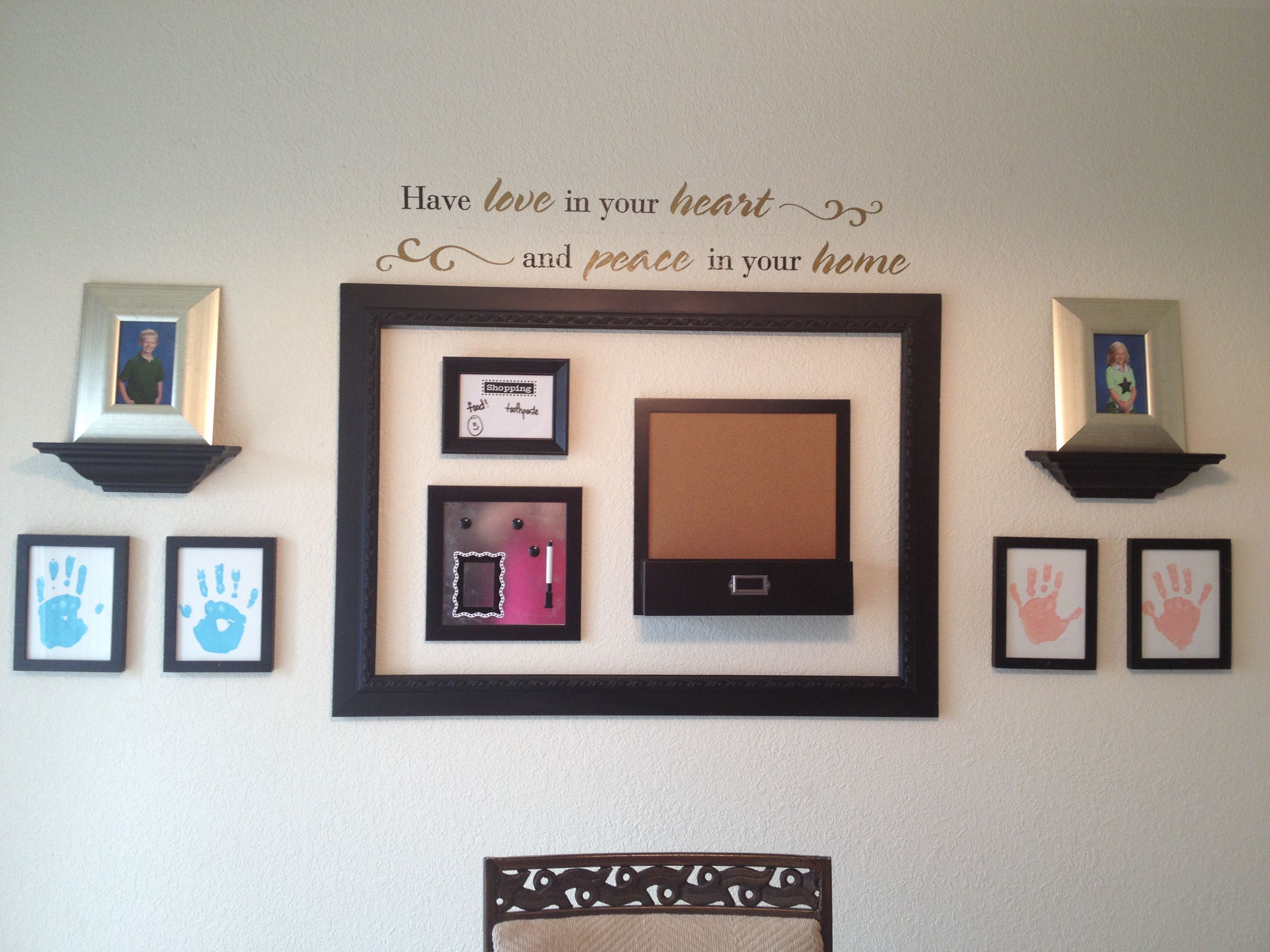Using Up Cycled Frames, A Little Spray Paint, And A Few