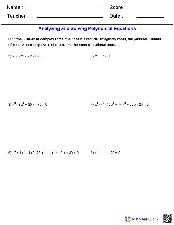 😍 Kuta software infinite algebra 1 naming polynomials